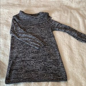 Cowl neck maternity sweater